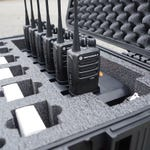 Case Foam For 12 Radios and Multi-Unit Charger