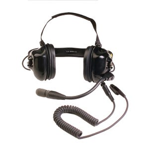 Motorola [BDN6645A] Heavy Duty Noise-Cancelling Boom Microphone Headset with PTT on Earcup