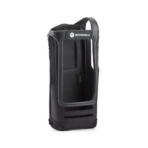 "Motorola [PMLN5015C] Nylon Carry Case with 3"" Fixed Belt Loop for Display Radio"