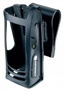 """Motorola [PMLN5019] Leather Carry Case with 2.5"""" Swivel Belt Loop for Display Radio"""