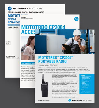 Motorola CP200d Resource Download