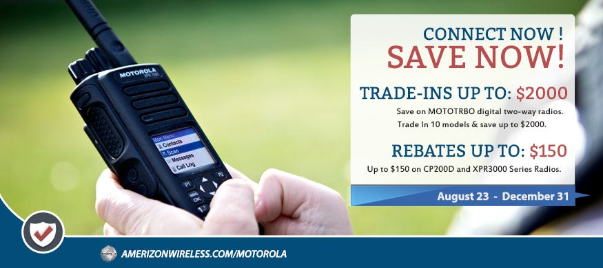 Save on MOTOTRBO Digital Radios