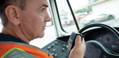 Vehicle Radio In Use