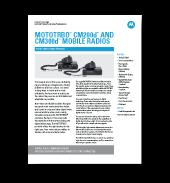 Motorola CM200d Spec Sheet