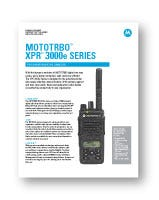 Motorola XPR 3500e Spec Sheet