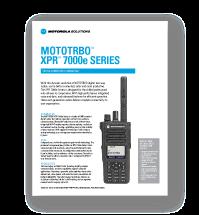 Motorola XPR 7350e Spec Sheet