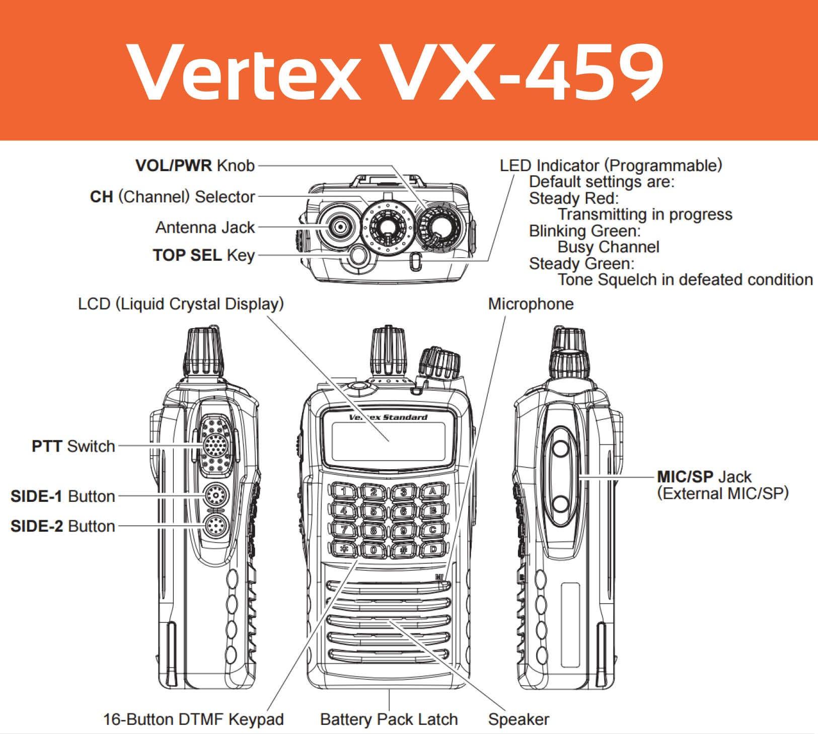 Vertex VX-459 User Guide Controls