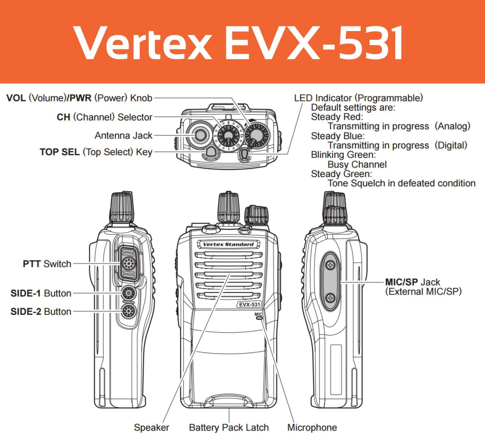 Vertex EVX-531 User Guide Controls
