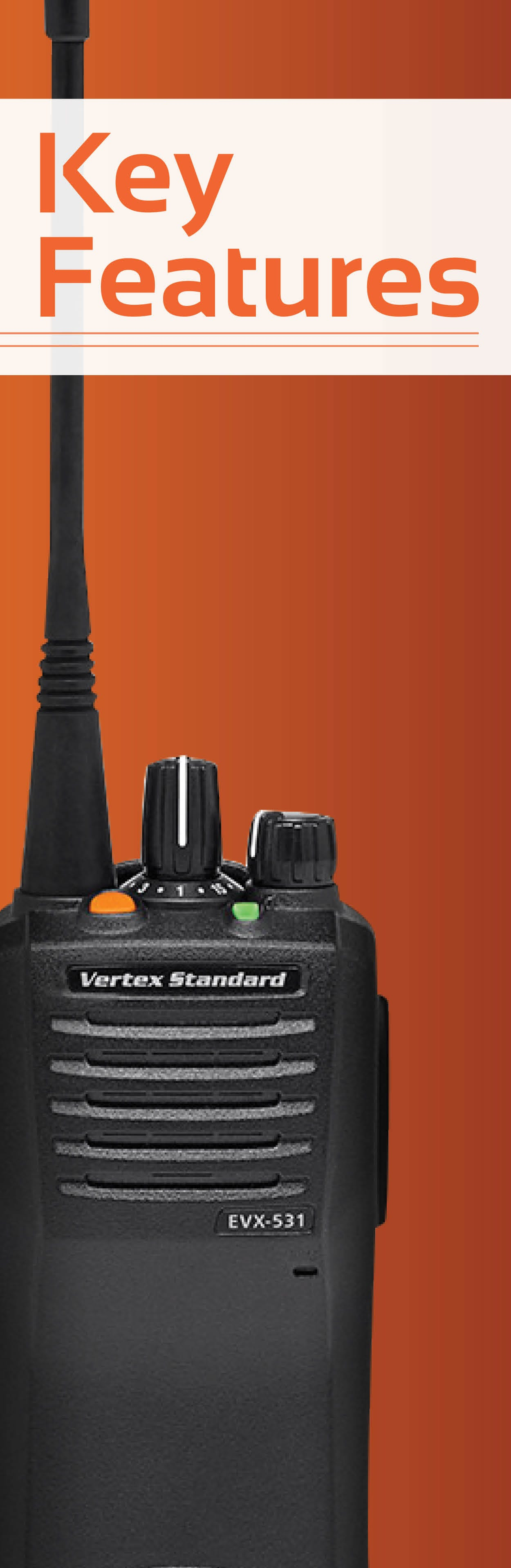 Vertex EVX-531 Features