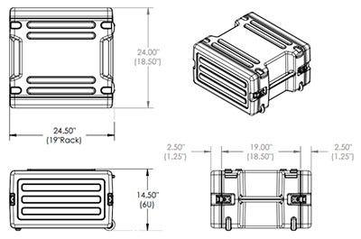 1SKB-R6W Dimensional Drawing